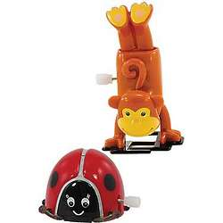 Wind-Up Monkey and Ladybug Toys