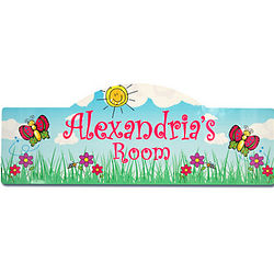 Personalized Butterfly Garden Kid's Sign
