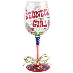 Redneck Girl Wine Glass