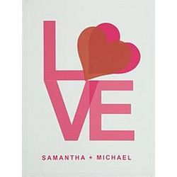 Personalized Love Canvas Art