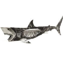 Steel Bone Shark Hanging Sculpture