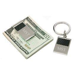 Personalized Checkerboard Moneyclip And Keychain