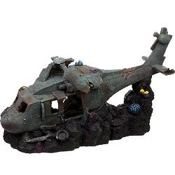 Super Sized Sunken Helicopter Aquarium Ornament