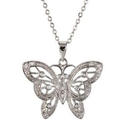 Vintage Filigree Butterfly Necklace
