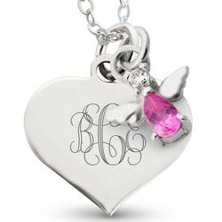 Girl's October Birthstone Necklace