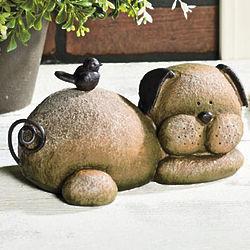 Resting Dog Stone