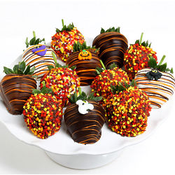 Belgian Chocolate Halloween Strawberries