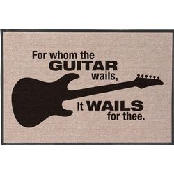 For Whom the Guitar Wails Doormat