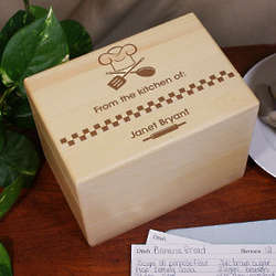 From The Kitchen of Personalized Engraved Recipe Box