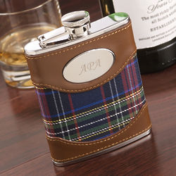 Personalized Scottish Plaid Flask