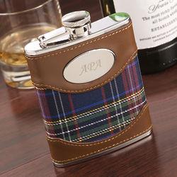 Personalized Scottish Plaid Flask