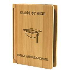 Personalized Graduation 4 x 6 Wood Photo Album