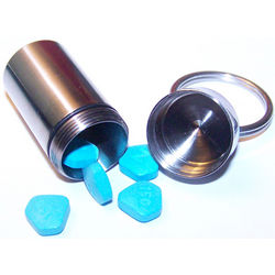 Engravable Titanium Pill Case