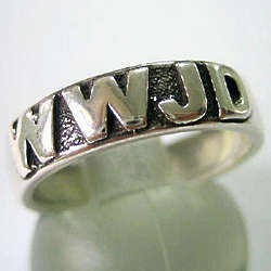 Sterling Silver WWJD Ring