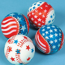 Relaxable Patriotic Baseballs