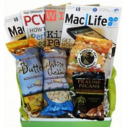 Technology Magazines and Snacks Cheeriodical Gift Box