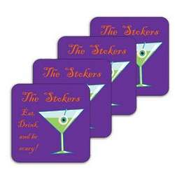 Personalized Eat Drink and Be Scary Coaster Set