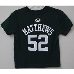 Green Bay Packers Matthews 52 Boy's T-Shirt