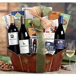 California Syrah, Chardonnay and Merlot Gift Basket
