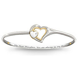 Always In My Heart Daughter Diamond Bracelet