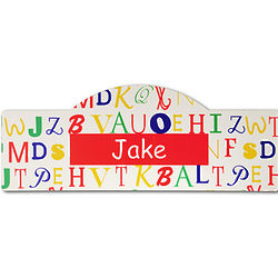 Personalized Red Alphabet Kid's Sign