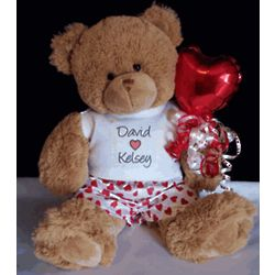 Personalized Teddy Bear with Heart Boxers