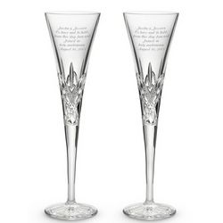 Isabella Crystal Champagne Toasting Flute