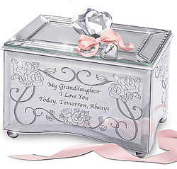 Personalized Today, Tomorrow, Always Granddaughter Music Box