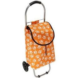 Small Paw Print Rolling Shopping Cart
