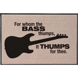 For Whom the Bass Thumps Doormat