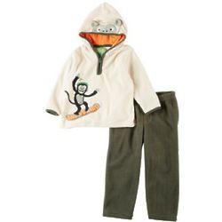 Baby Boy's Snow Monkey Hoodie Set