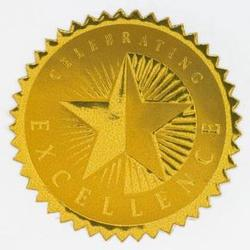Round Foil Celebrating Excellence Certificate Seals