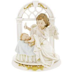 Sleeping Baby and Guardian Angel Nursery Figurine