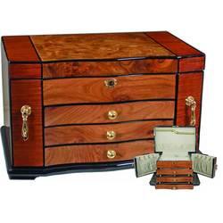 Burl Wood Jewelry Box
