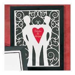Love Couple Cut Out Heart Print