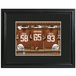 Personalized Premium College Football Print