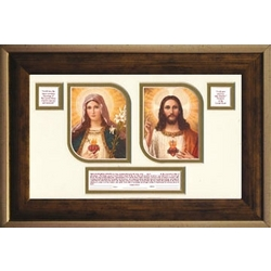 Sacred Heart of Jesus and Immaculate Heart of Mary Print