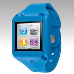 Blue iPod Nano 6 Ticker Silicone Wrist Band Case