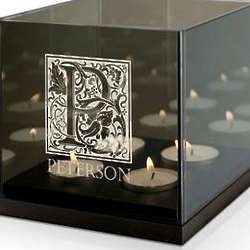 Monogram Personalized Quad Tea Light Candle Holder