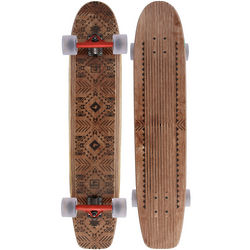 The Plank Tribal Geometric Pattern Longboard Skateboard