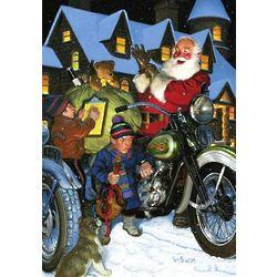 Biker Santa Christmas Card