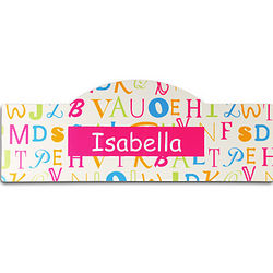Personalized Pink Alphabet Kid's Sign