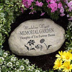 Personalized Memorial Garden Stone
