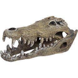Large Nile Crocodile Skull Aquarium Ornament