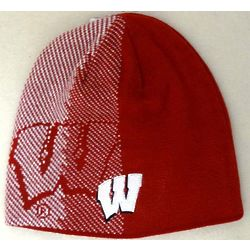 Men's Reversible Wisconsin Player Knit Hat