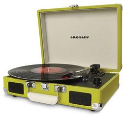 Green Suitcase Turntable