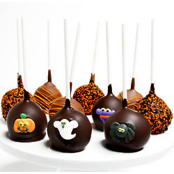 Belgian Chocolate Halloween Cake Pops