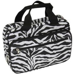 Zebra Print Double-Sided Toiletries Travel Bag