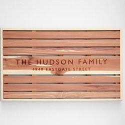 Personalized Cedar Wood Doormat