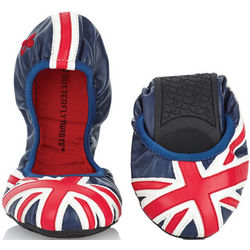 Union Jack Butterfly Twists Ballet Flats